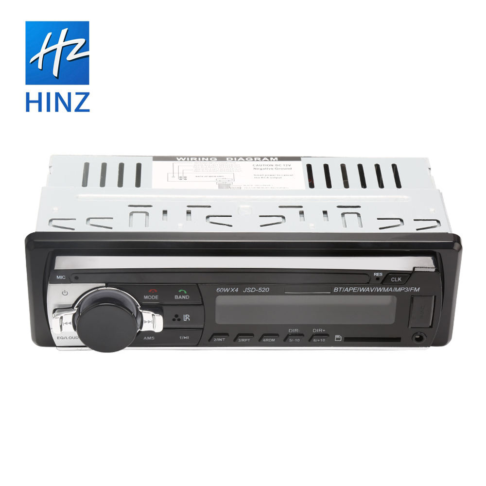 HINZ New Car MP3 Player JSD520 1 Din Car Stereo With Bluetooth USB AUX