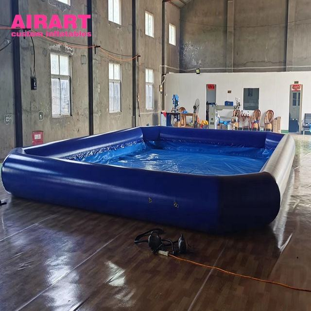 Blue inflatable pool custom adult game pool decoration for advertising