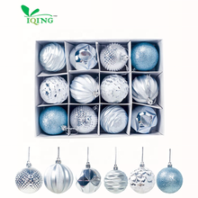 XP Wholesale Luxury Merry Christmas Tree Ball Modern Decoration Ball Set Gift Custom Christmas Ball Silver Ornaments