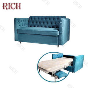 Modern Teal arm chair adjustable sofa bed settee convertible sofa sleeper couch comfortable compact chesterfield sofa bed