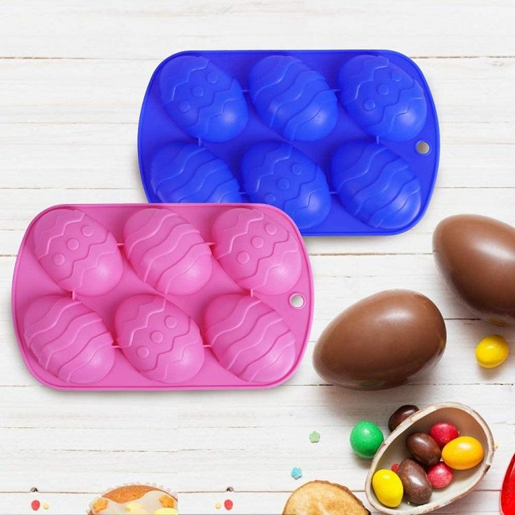 Hot Sale Easter Egg Shaped Silicone Cake Mold Trays Cooking Supplies For Chocolate Candies Ice Cube Tryas Baking Molds