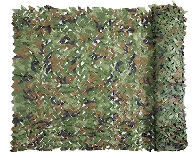 Woodland Military Outdoor Camouflage Disguise Net Military Networks, Military Equipment Camouflage Cover Net