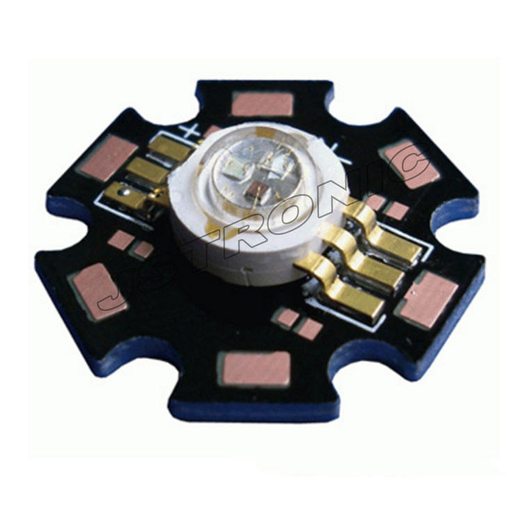 6 terminal high power 3w RGB led with Star PCB