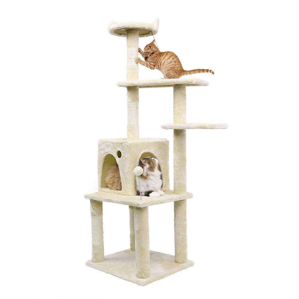 High Quality Safe Stable Large Solid Wood Cat Climbing Frame Cat Tree