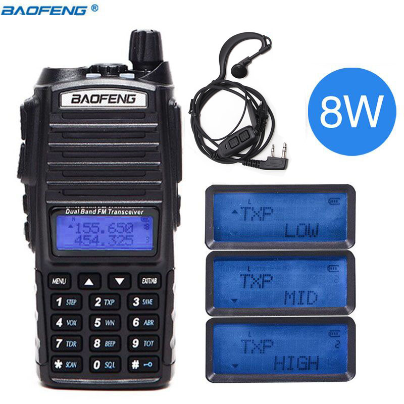 8 watt walkie talkie Baofeng UV-82 bangladesh professionele walkie talkie