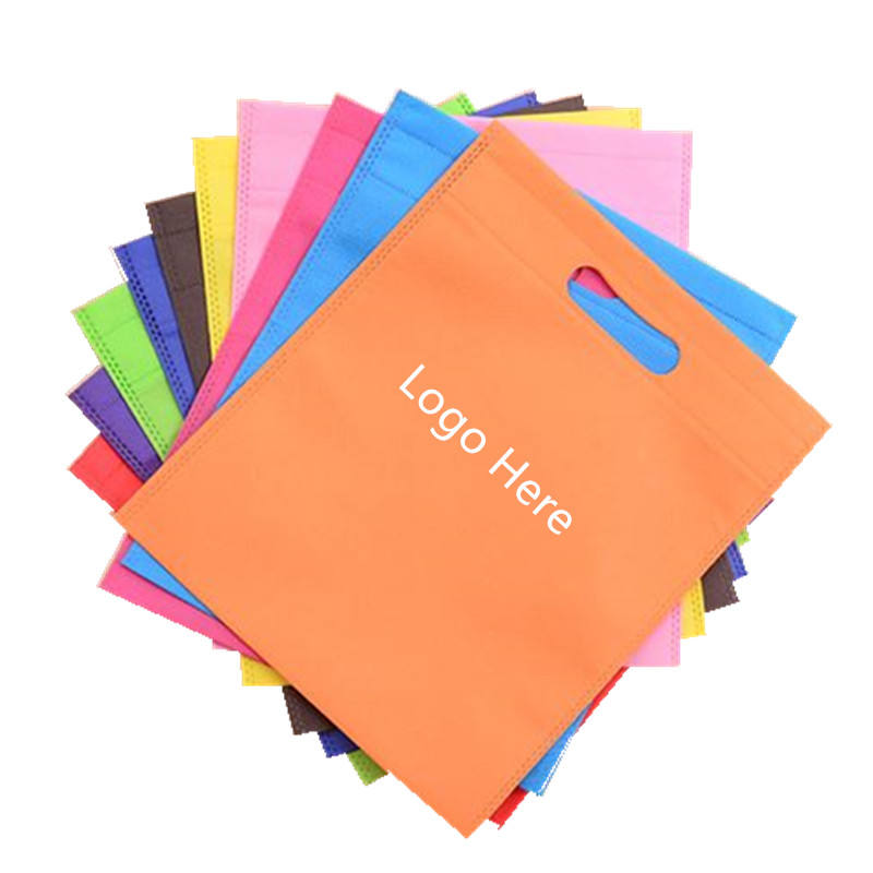 2019 New Promotional Colorful Customized Printed laminated promotional d cut non-woven shopping bag