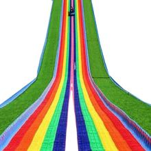 Rainbow slide Dry Ski Slope  four seasons artificial snow slide dry slide