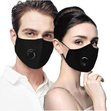 washable face  mask reusable with filter custom logo breathing valve  pm2.5 anti adult  cotton facemask  replaceable