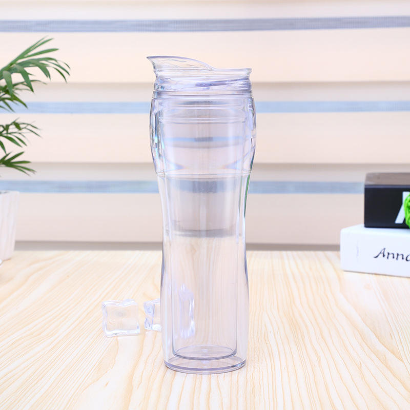16oz classic plastic clear water skinny tumbler acrylic clear cup new curve clear plastic drinking Tumbler