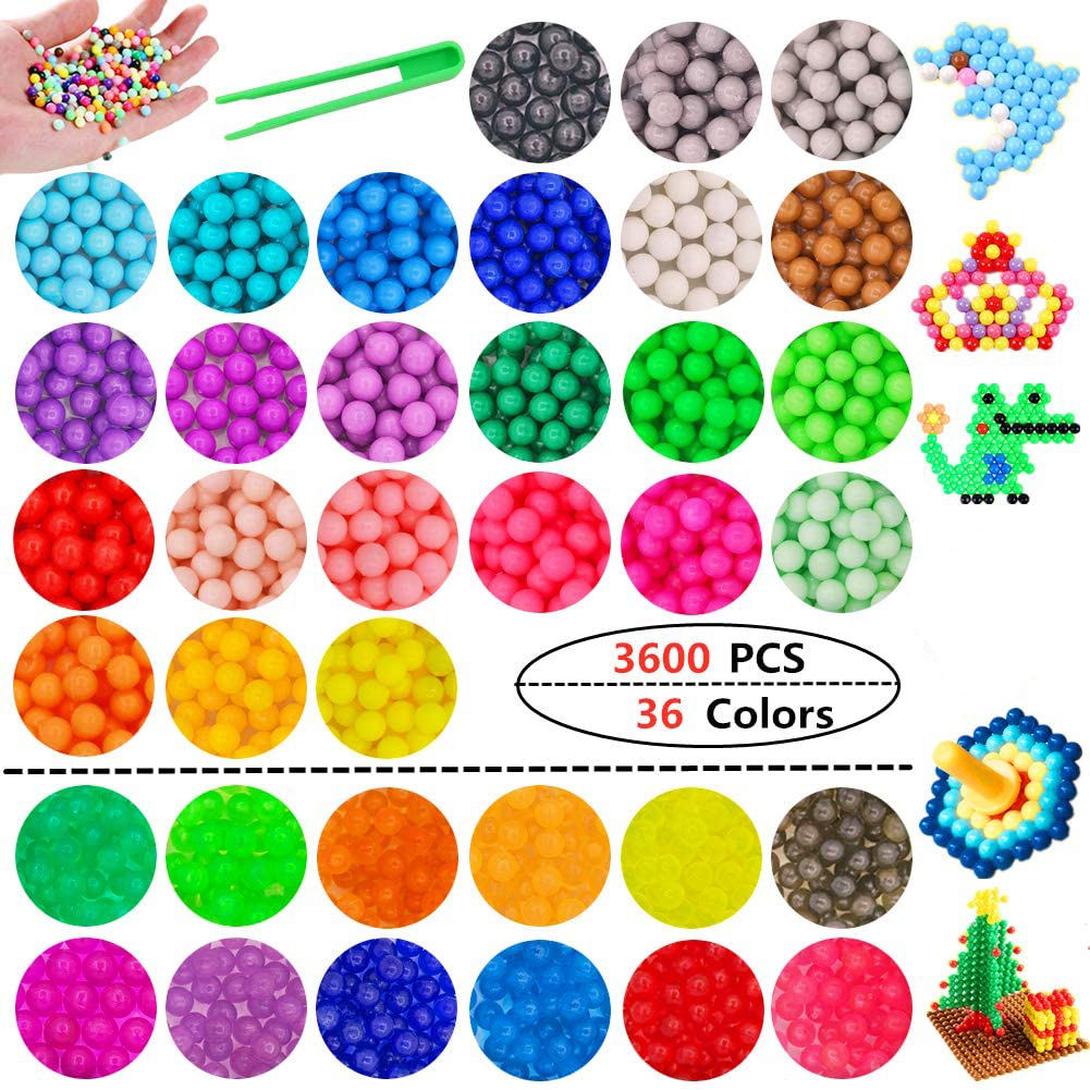 Fuse Water Beads Toys For Children Kids Replenish Creative Molds Handmade Girl Gift Educational Refill Spray Beads DIY Craft Toy