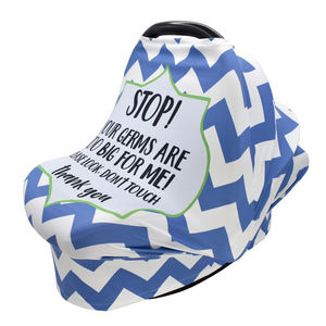 New Printed Design Stretchy Baby Car Seat Canopy 4 in 1 Nursing Breastfeeding Cover