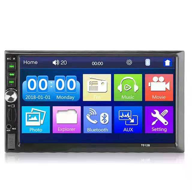 Leshida 2 Din 7 inch MP5 bluetooth HD touch screen car radio