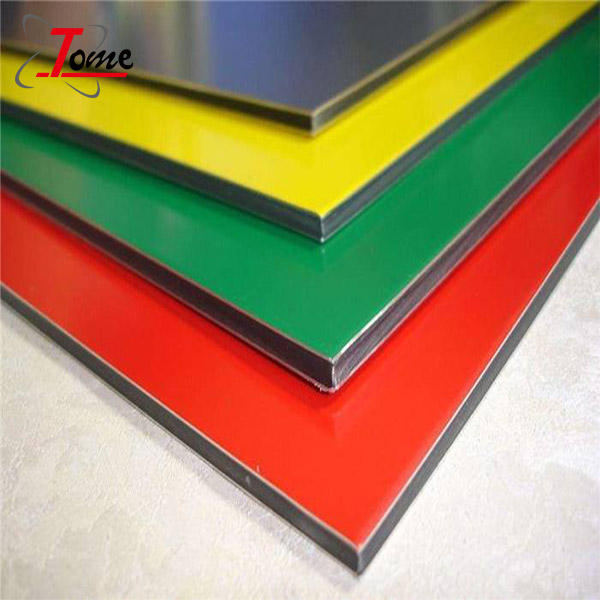 High quality PVDF aluminium composite panel PE/PVDF colour coated aluminium sheet