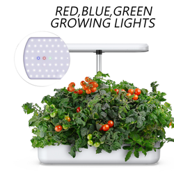 LED Hydroponic Grow Kit Self Watering Planter Pot commercial hydroponic growing system Home Garden Modern Decorative Planter Pot
