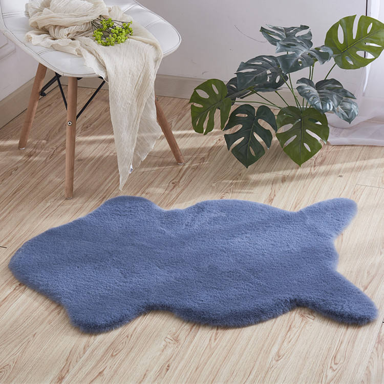 factory wholesale cheapest shaggy faux rabbit fur hair carpet for living room bedroom