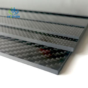 Horyen manufacture custom size carbon fiber sheet 7mm 6mm 5mm 4mm