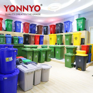 1100 l grey color plastic trash can garbage container