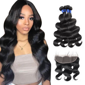 Wholesale 10A Grade Raw 10-30inches virgin brazilian body wave human cheap hair trio hair