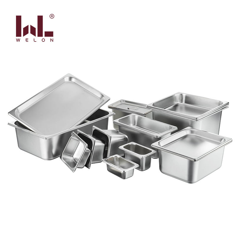 Factory Price American Style Rectangle Stainless Steel GN Pan for Buffet Gn Pan Food Container with Lid