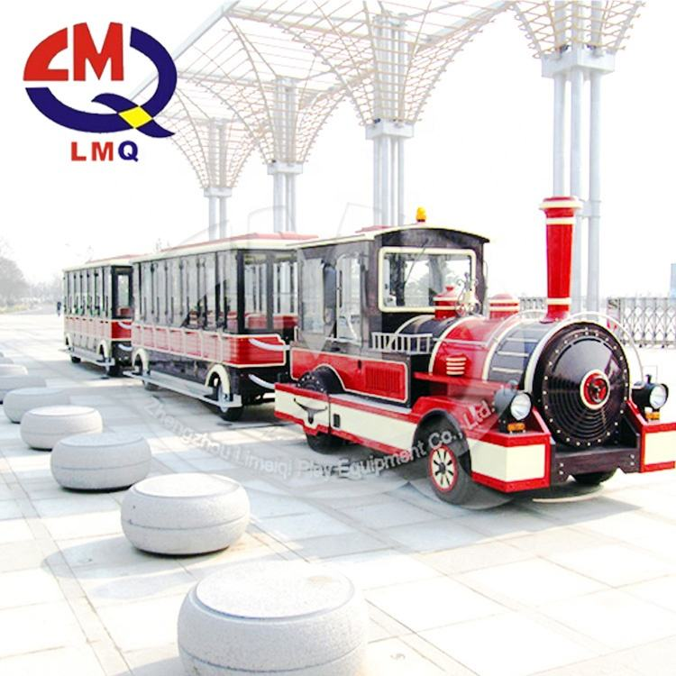 Attractions 40 seats tourist road train used trackless train for sale