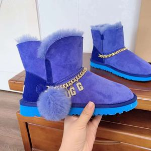 New Arrival Hottest Women Fashion Fur Boots Bling Bling Girls Fur Ball Snow Boots