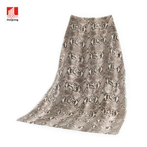 Customized snake skin woven wrap classic snakeskin print brushed winter scarf cozy soft warm fluffy custom scarves