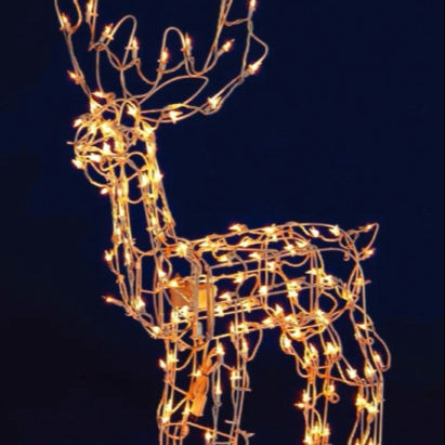 Indoor 38.5cm Led Acrylic Reindeer Xmas Decoration Christmas Display Light Up