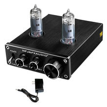 FX-AUDIO TUBE-03 Tube Preamplifier 6K4 Tube Hi-Fi Tube Preamp with Bass & Treble Control Home Theater Stereo Audio Preamplifier