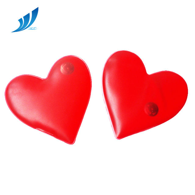 reusable heart shaped hand warmer/instant hot pack/microwave heating pad