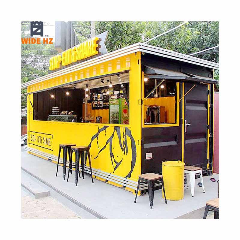 2020 Pop up prefab mobile movable shipping container coffee restaurant bar booth containers coffee shop kiosk