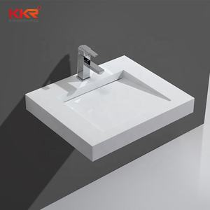 Kkr Solid Surface Stone Sink Steen Wastafel Wall-Hung Vanity Sink