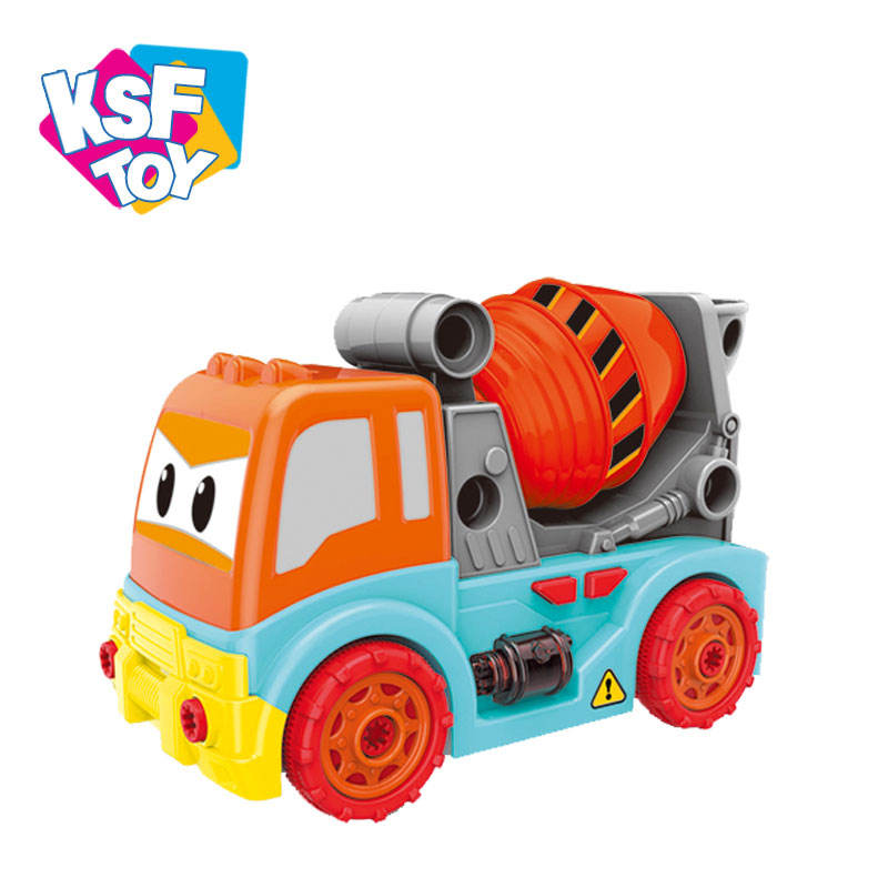 [ Toy ] Exercise Kids Hands On Ability Take Apart Toy Engineering Diy Truck Assemble Toy With Light And Music