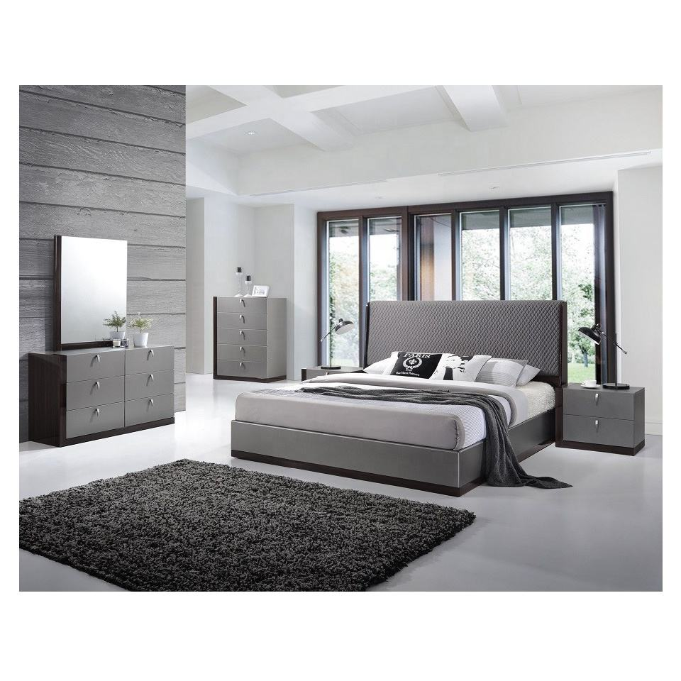 MHAA005-gloss Modern European Design Home Furniture Luxury Bedroom Set 4 Piece