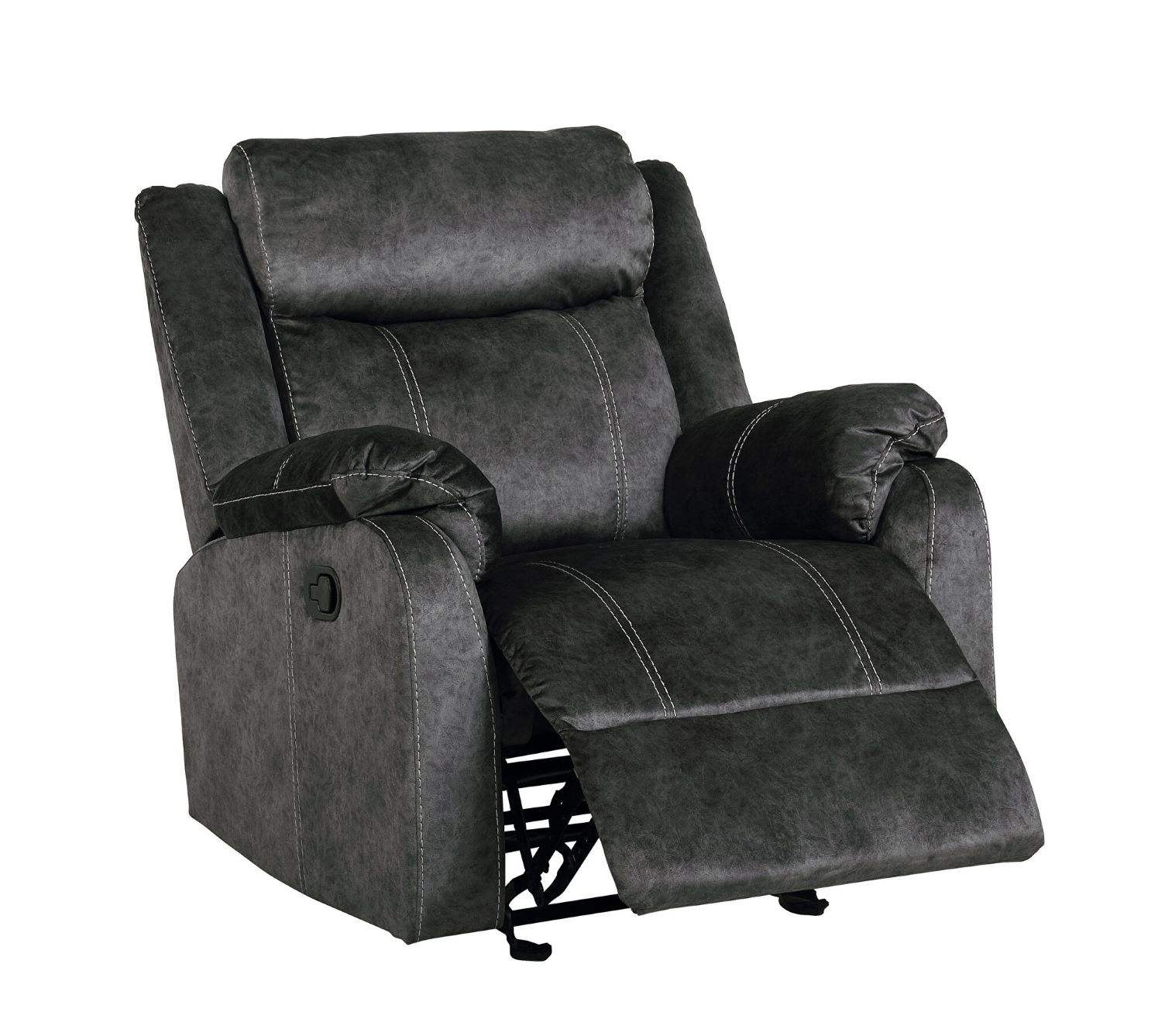 Modern Domino coffee printed microfiber reclining chair for living room