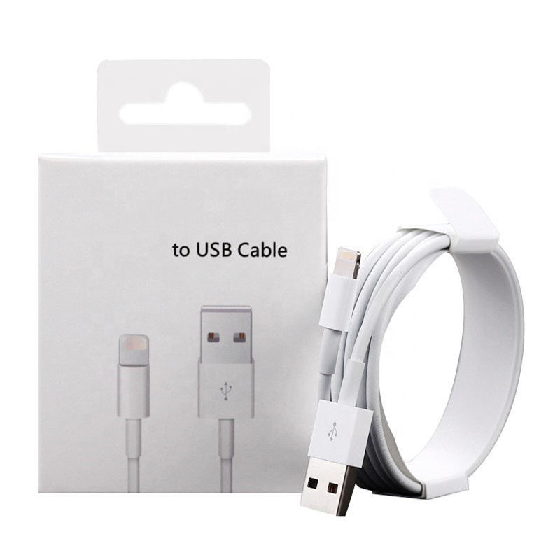 Graphic Customization [ Cable Iphone ] Colorful Usb Cable 2m White Color Fast Charging Usb Data Cable For Iphone