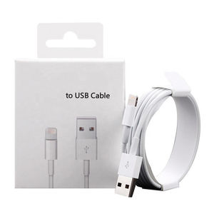 2m White color fast charging usb data cable for Iphone