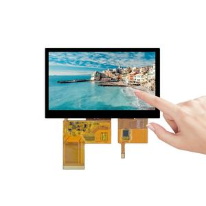 5 polegadas TFT LCD industrial módulo i2c display capacitivo painel touch screen 480x320 bit RGB 24 interface handheld tela sensível ao toque