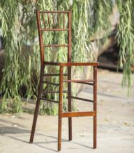 Rental Wood Mahogany Chiavari Bar Chairs Wedding Event Bar Stool of Outdoor Garden Party From Factory Wholesale