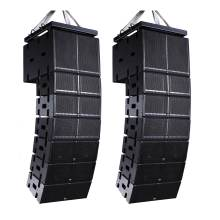 China Powered line array speaker audio system with double 8 inch full range + subwoofer 18 inch