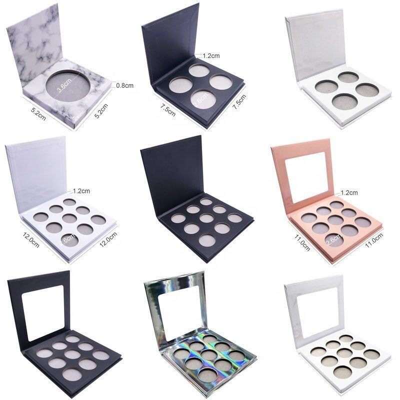 Vegan Cardboard Matte High Label No Logo Manufacturer Makeup OEM Pigment Custom Private Label Eyeshadow Palette