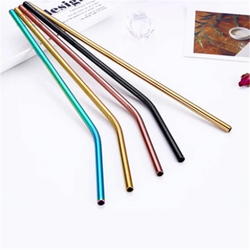 2020 Amazon Top Seller Eco-friendly Reusable Straw Stainless Steel Drinking Straw With Cleaning Brush Set