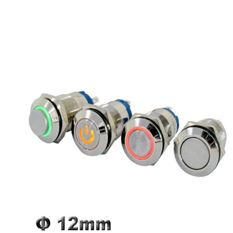 DIGITEN Latching Push Button Switch 12V Blue Angel Eye LED Button Switch ON//OFF Waterproof Stainless Steel for 19mm 3//4 Car or Boat Mounting Hole with Wire Connector