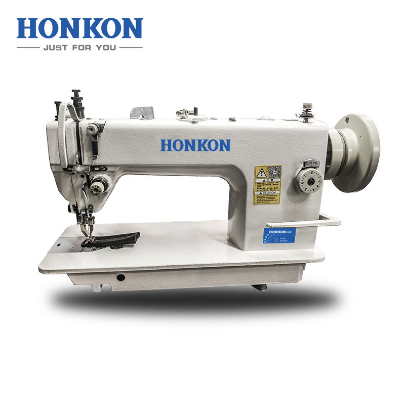 HK-0303 Hot seller high speed compound feed heavy duty lockstitch sewing machine thick material flat seam machine