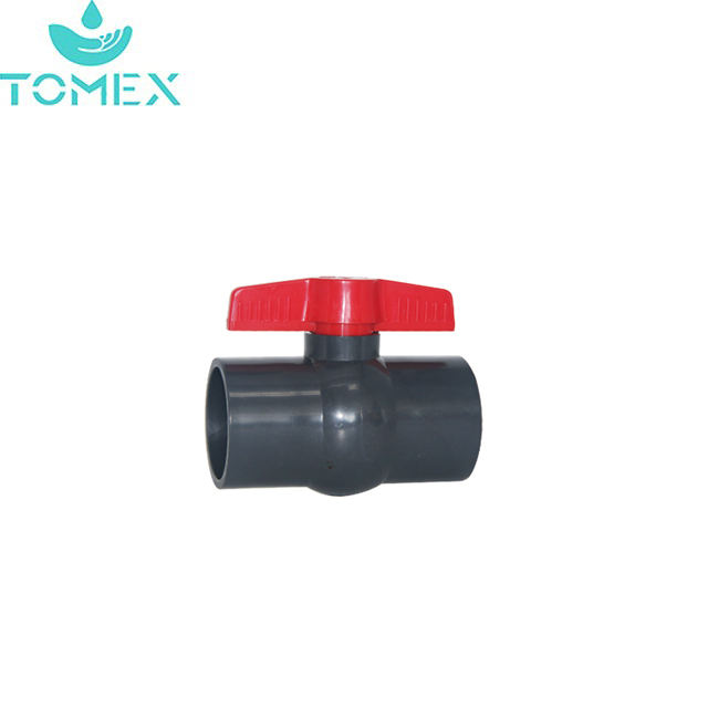 High quality PN10 PVC compact ball valve for irrigation