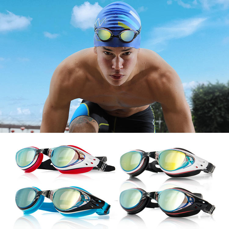 High Quality Confortable Swimming Goggles Anti-fog Mirror Coated Goggles for Swimming