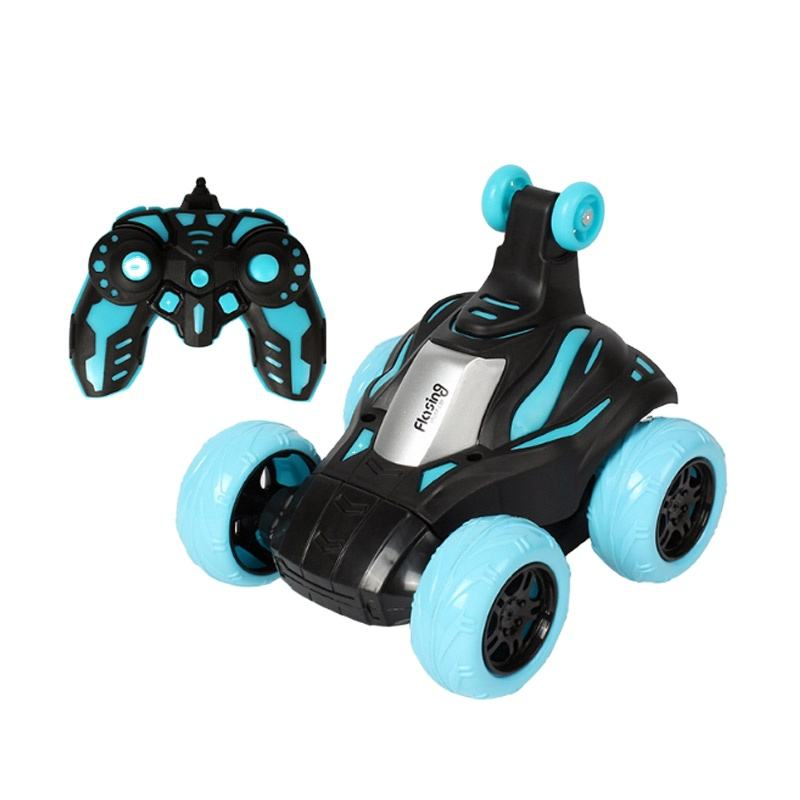 2.4GHz 360 degree rotation rolling flip remote control rc stunt car drift with cool light music