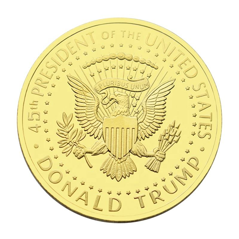 New Design Collectible The United States Presiden Donald Trump Token Gold Plated Coin Commemorative Coins For Collection