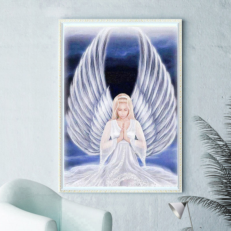 Diamond Painting Diamond Angel Foreign Trade Source New 5D Decoration Painting Factory Direct Sales