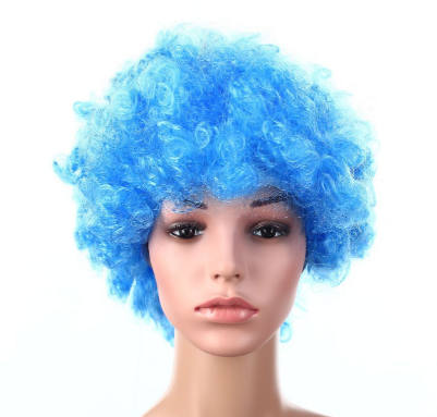 2020 Festival Party Disco Afro Clown Hair Football Fans Adult Halloween Costume Wig