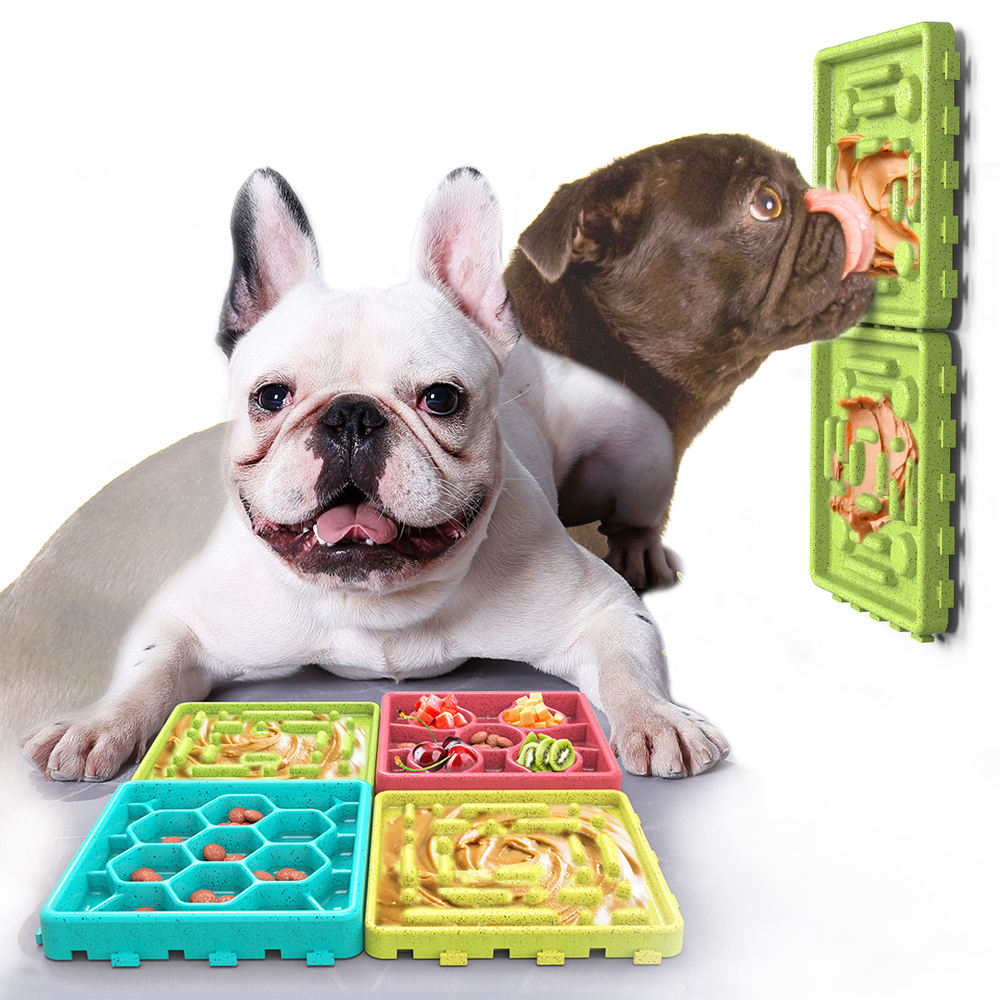 Wholesale Multi Colors TPR Dog Slow Eating Food Plate, Food Fruit Vegetable Slow Feeder Tray Dog Lick Mat